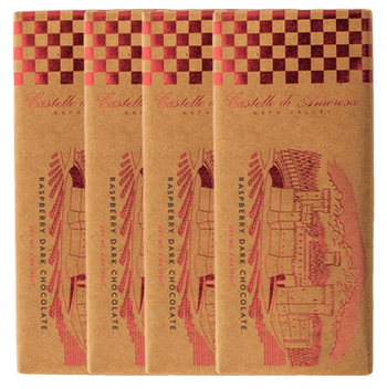 La Fantasia Raspberry, Dark Chocolate Bar, 4 Pack