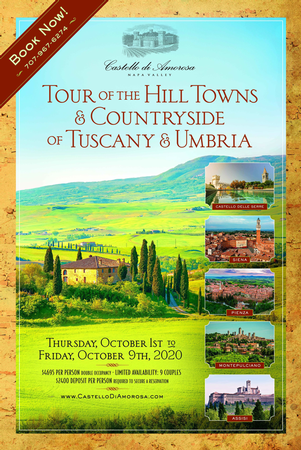 Tuscany Tour (Deposit) -October, 2020