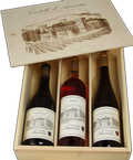 Three Bottle Wooden Gift Box Image
