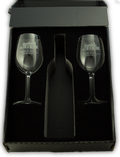 One Bottle Gift Box with Two Logo Glasses Image