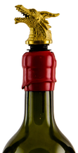 Gold Animal Head Wine Pourer-Aerator Image