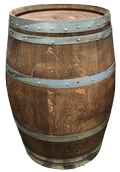 Hand-Stained Wine Barrel