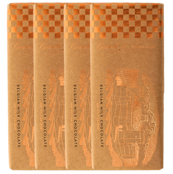 Belgian, Milk Chocolate Bar 4 Pack