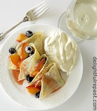 Crepes with Peaches and Cream