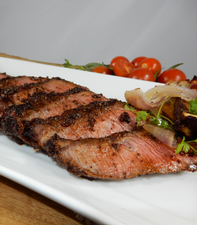 Flat Iron Steak with Cocoa Nib and Coffee Rub